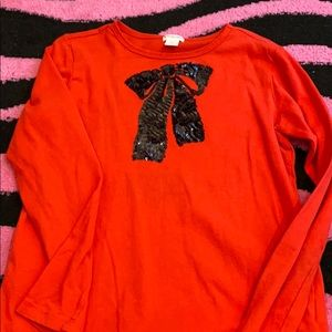 Crew Cuts size 10 red long sleeve girls worn once